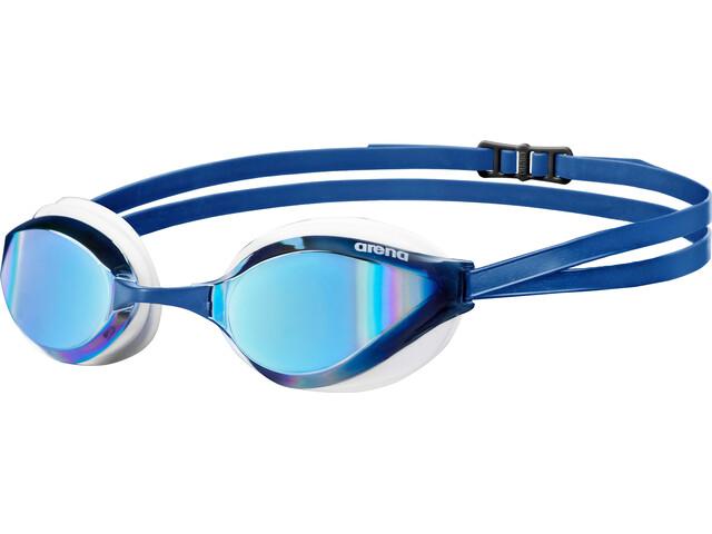 arena Python Mirror Goggles, blue mirror-white